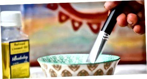 Brug af linfrøolie med olie maling