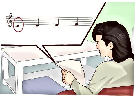 At finde ud af en nøgle med notation