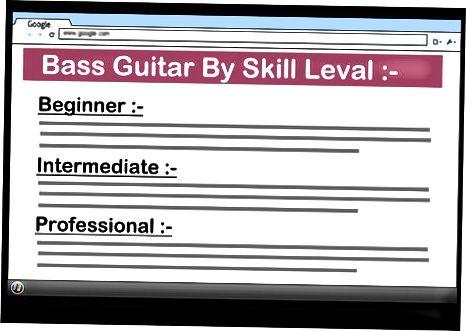 Bass gitaralarini tadqiq qilish