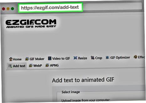 Ezgif.com-dan foydalanish