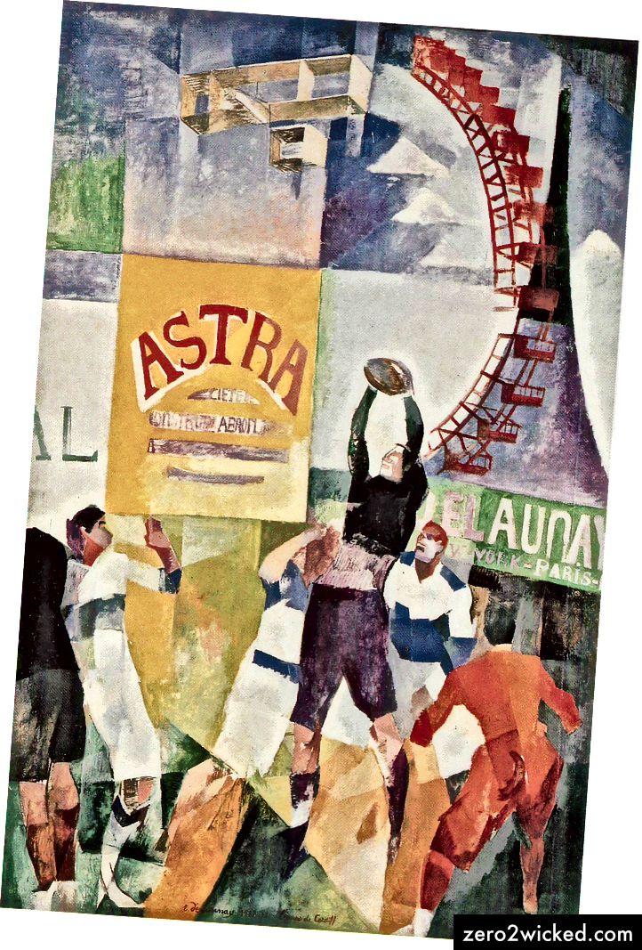 Роберт Делаунаи, 'Кардиф тим' (1913). Ван Аббемусеум, Холандија