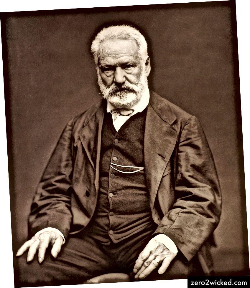 Victor Hugo som fotograferats av Etienne Carjat 1876. (Källa: Frankrikes nationalbibliotek.)