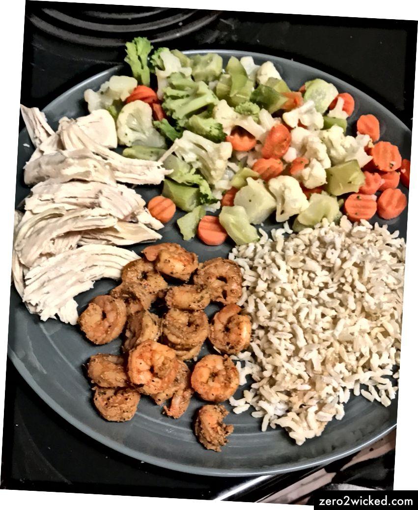 Dubbla grönsaker OCH räkor ?! Om du har några extra kalorier att spara kan du verkligen leva upp det ...