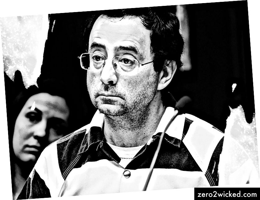 Dr. Larry Nassar. (Robert Killips / Lansing State Journal / AP; Lily illustration)
