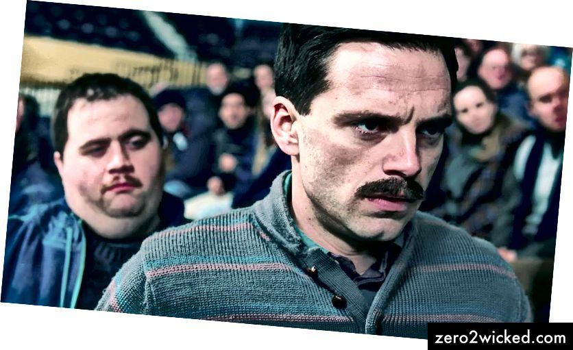 Shawn Eckardt (Paul Walter Hauser) ja Jeff Gillooly (Sebastian Stan) elokuvassa 'I, Tonya' | © Neon / 30 West