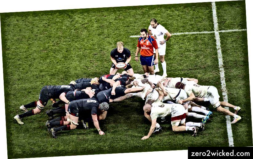 Wales mot Georgia på skrumtid. | © Huw Evans / REX / Shutterstock