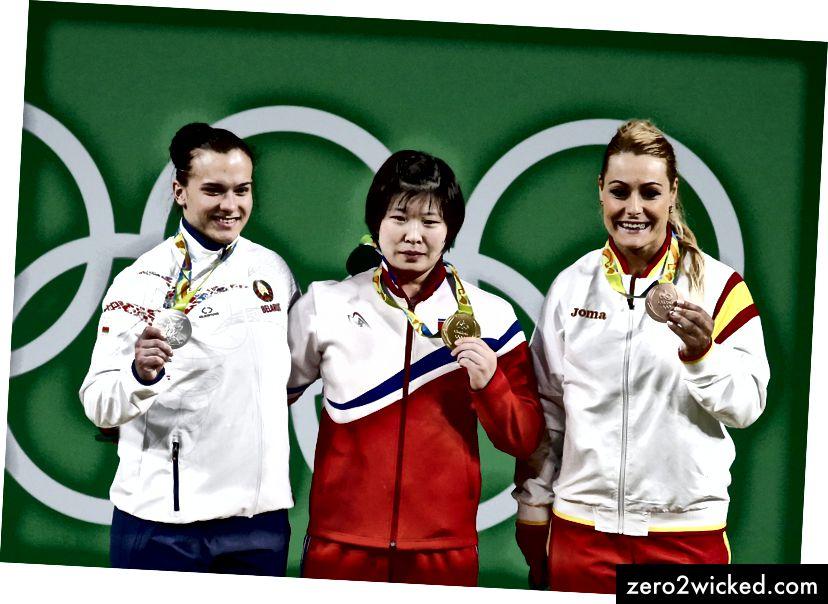 Goldmedaillengewinner Rim Jong Sim aus Nordkorea in Rio 2016. | © Larry W. Smith, Epa, REX und Shutterstock
