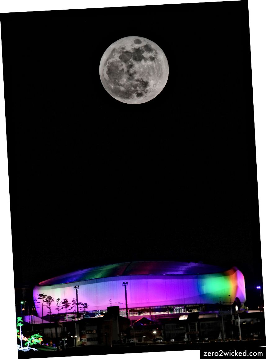 Das Olympiastadion in Pyeongchang, Südkorea. | YONHAP / EPA-EFE / REX / Shutterstock