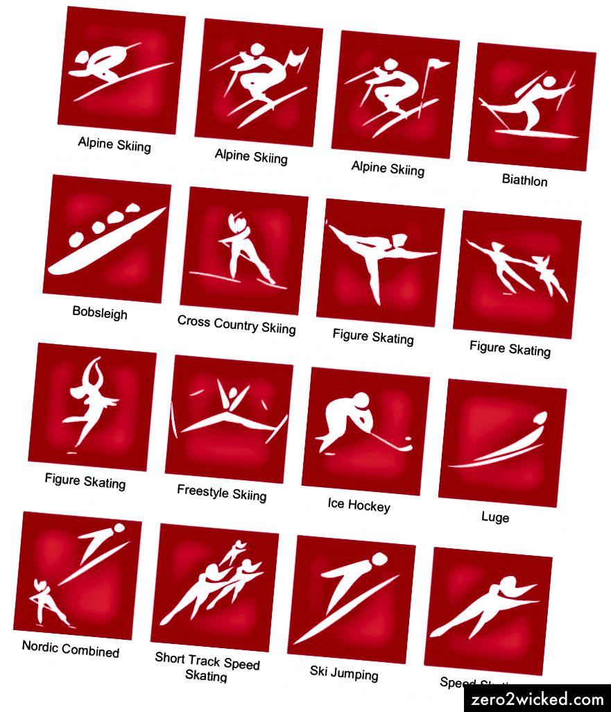 1992 Barcelonan kesä- ja Albertville-talviolympialaisten piktogrammit