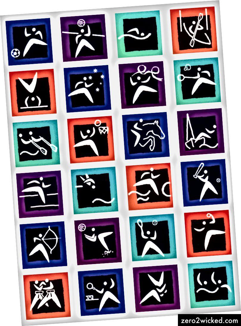 Sydneyn kesäolympialaisten piktogrammit, 2000.