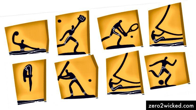 Ateenan kesäolympialaisten piktogrammit, 2004.