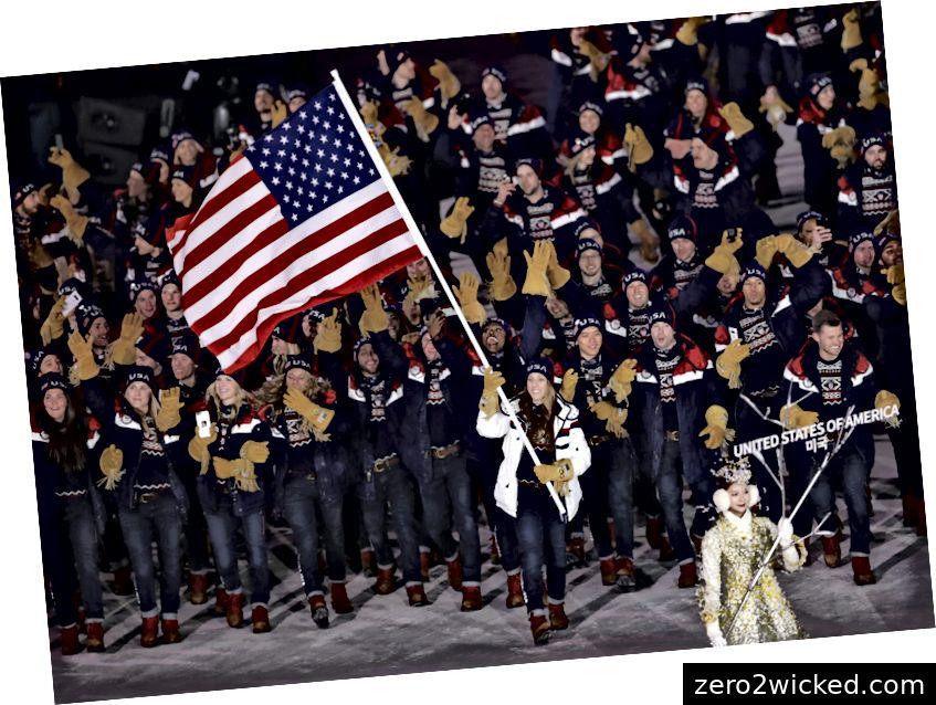 Poliittisten urheilijoiden Trump-perhe on valmis talviolympialaisten äärimmäisiin olosuhteisiin. (Luotto: weirtondailytimes.com)