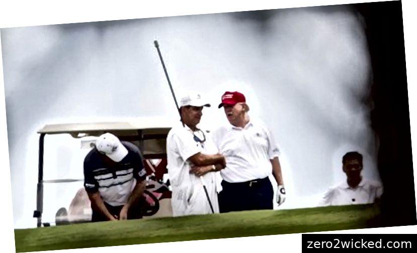 """Richard Crypter, præsidentens mangeårige golfcaddie, siger om sin chef, """"Mr. Trump kan bestemt lide at forkaste sine svimmelne små kugler. (Kredit: palmbeachdailynews.com)"""