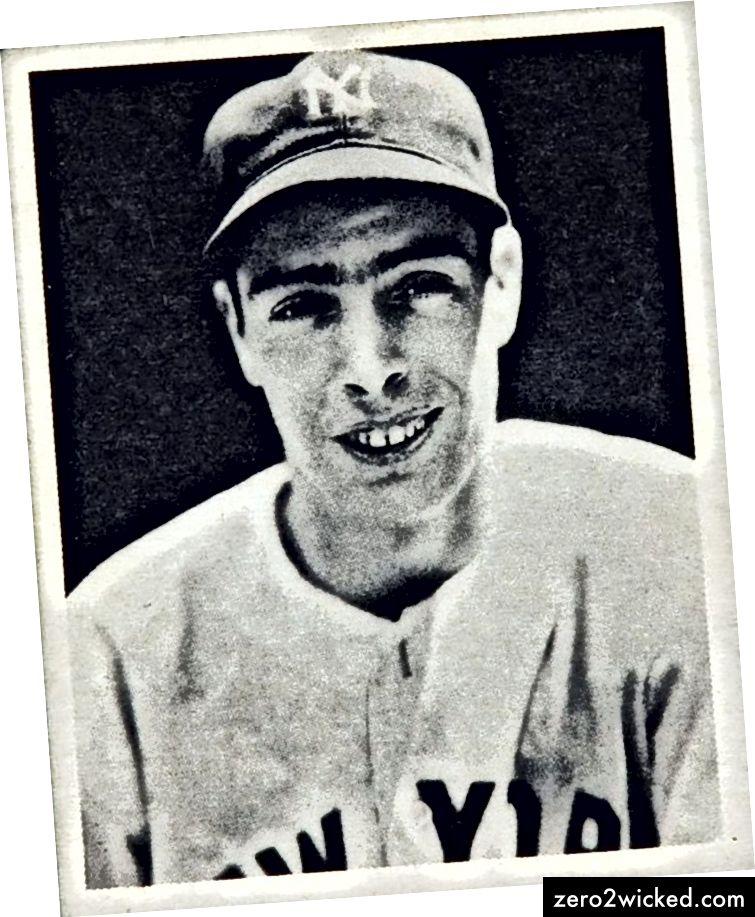 Joe DiMaggio i 1939. Udgivet af Bowman Gum til Play Ball Cards.