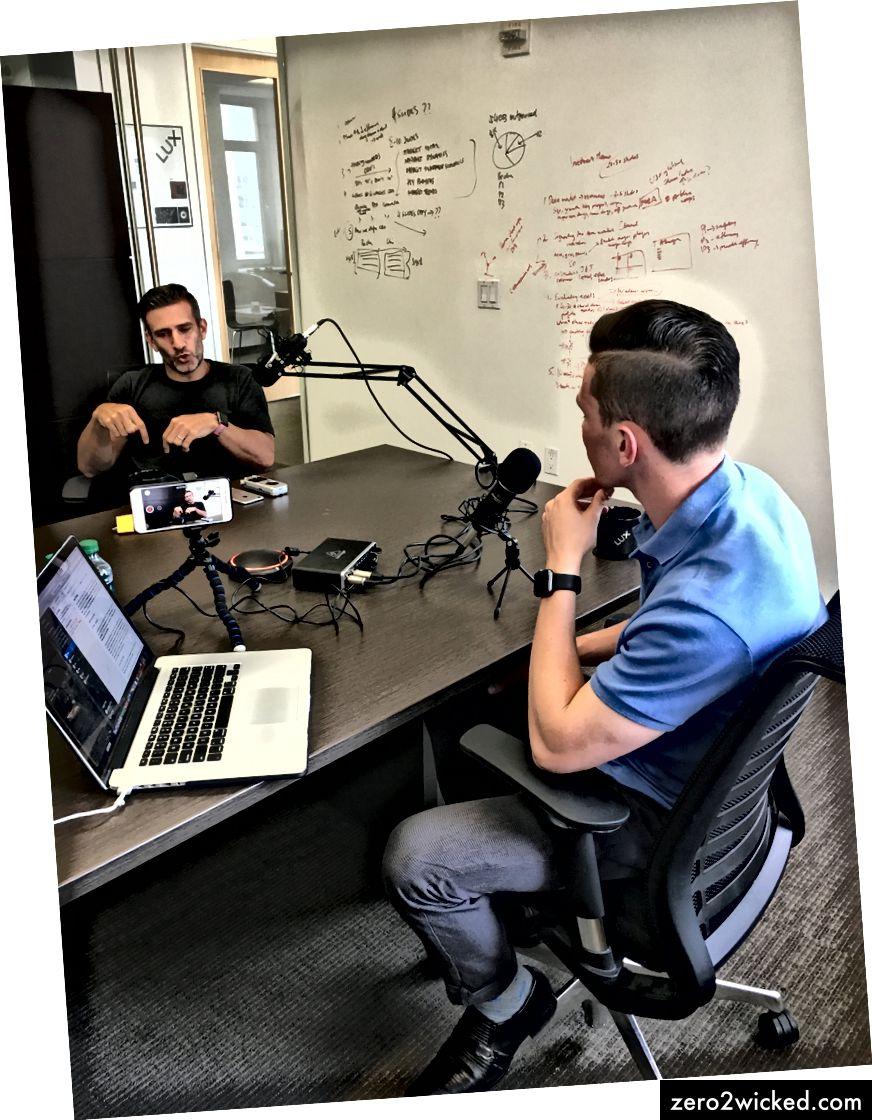 يجرى ديفيد مقابلات مع جوش وولف في برنامج نورث ستار بودكاست