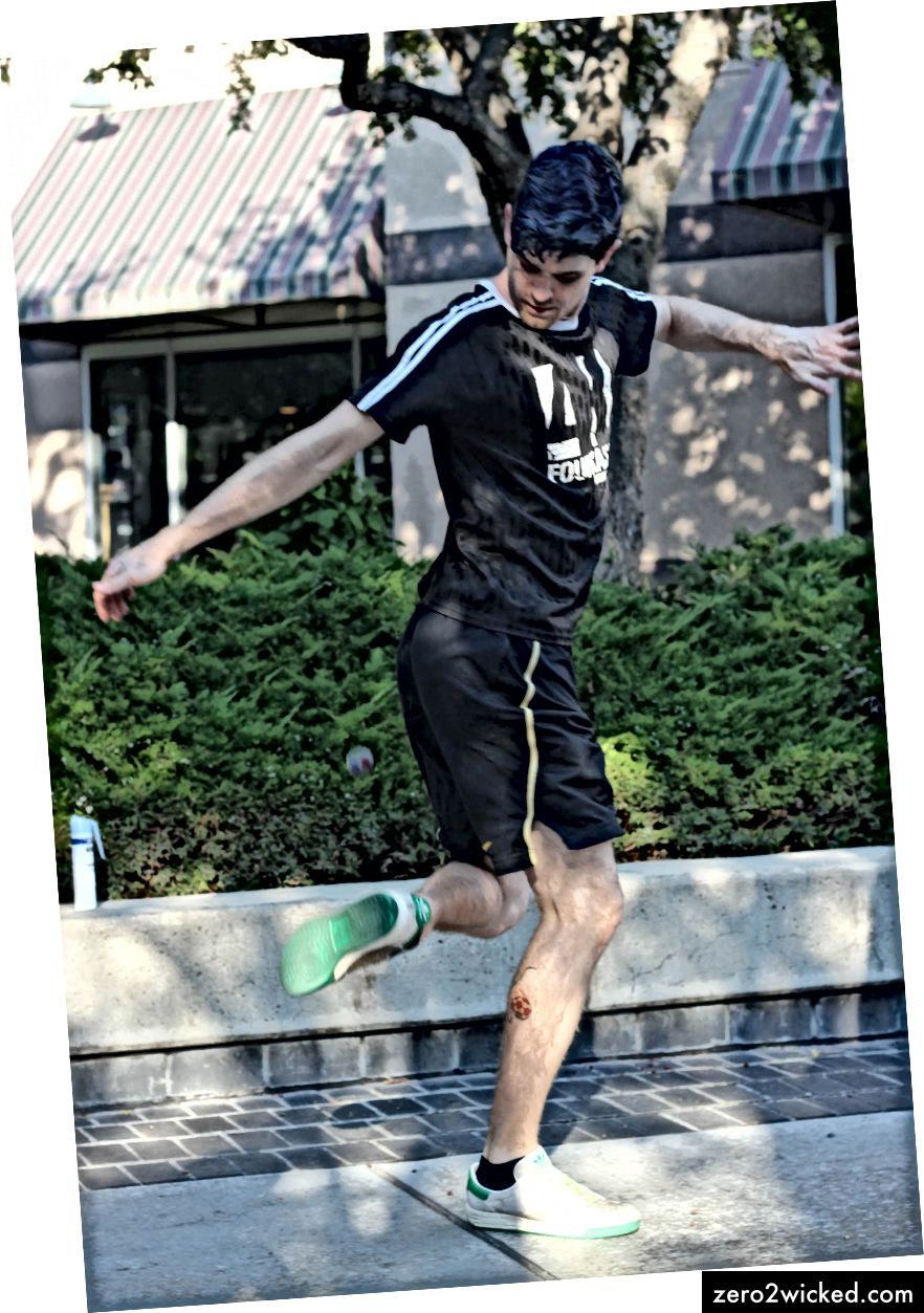 Aktueller Footbag US-Champion Nick Landes